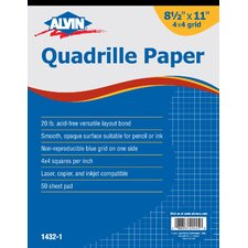 <strong>Alvin and Co.</strong> Quadrille Paper Grid Pad (Set of 50)