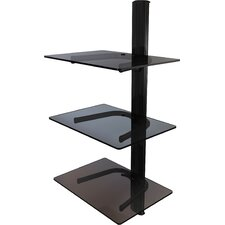 Triple Shelf Wall Mount System with Cable Management