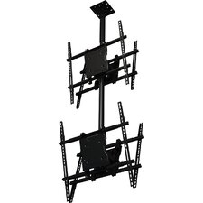 "Dual Screen Tilt Universal Ceiling Mount for 37"" - 65"" Screens"