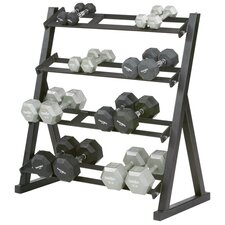 4-Tier Short Dumbbell Rack