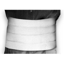 "12"" Quad-Panel Abdominal Binder in White"