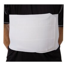 "9"" Tri-Panel Abdominal Binder in White"