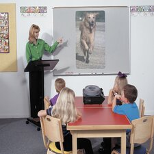 <strong>Best-Rite®</strong> Projection Plus Multimedia Boards - Aluminum Trim 4' x 8'