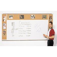 Combo-Rite Porcelain/Cork Modular Type H Whiteboard