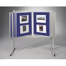 "Swinging Floor Base and Wall Mount 3'4"" H x 2'6"" L Royal Hook & Loop Bulletin Board Panels (Set of 10)"