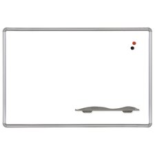 4' x 4' Porcelain Steel Markerboard with Presidential Trim