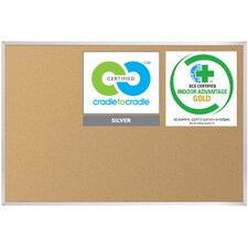 VT Logic Cork Board with Aluminum Trim 4' x 4'