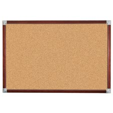 Elan Trim Natural Cork Tackboard 2' x 3'