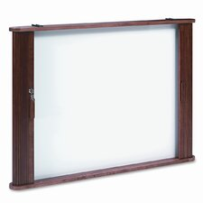 "Best-Rite® Tambour Door Enclosed Cabinet 2' 8"" x 3' 8"" Whiteboard"