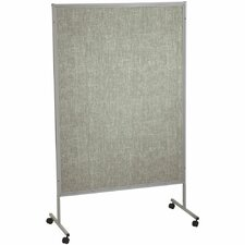 "Portable Art SIlver Hook and Loop 6'6"" H x 4'2"" L Bulletin Board"