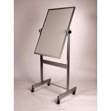 "Deluxe Reversible Porcelain/Cork 2'6"" H x 3'4"" L Whiteboard with Wood Frame"
