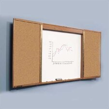 Enclosed 4' x 4-8' Whiteboard