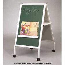 White MICE Wheasel Double-Sided Easel