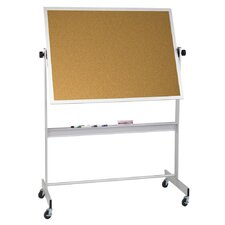 Deluxe Reversible 4' H x 8' L Bulletin Board