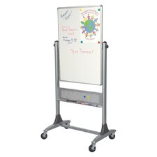 Mobile Platinum Lumina Reversible Whiteboard