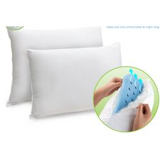 Memory Plus Classic Memory Foam and Fiber Pillows (Set of 2)