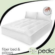 <strong>BioPEDIC</strong> 100% Cotton Fiber Bed with Bonus Pillow
