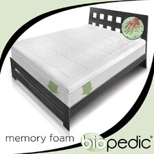 Euro Majestic Memory Foam Topper with Fitted Skirt