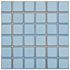 "<strong>EliteTile</strong> Pool 12-1/4"" x 12-1/4"" Porcelain Mosaic in Caribbean"