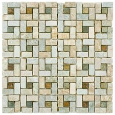Peak Random Sized Natural Stone Mosaic Tile in Multi