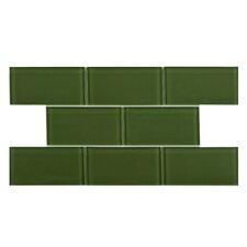 Sierra Glass Mosaic Tile in Sage