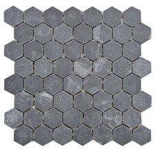 Peak Natural Stone Mosaic Tile in Black