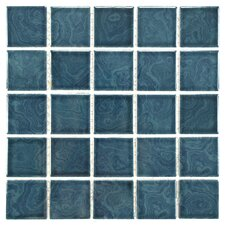 Utopia Porcelain Glazed Mosaic Tile in Blue