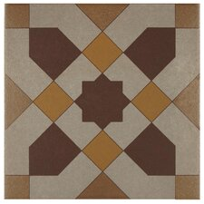 "Cementa 7"" x 7"" Ceramic Glazed Tile in Geo Centro"