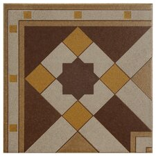 "Cementa 7"" x 7"" Ceramic Glazed Tile in Geo Esquina"