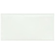 "Hexitile 8"" x 4"" Bullnose Tile Trim in Matte White"