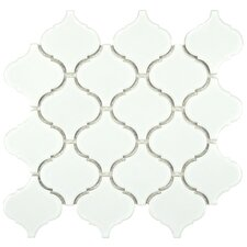Retro Beacon Porcelain Glazed Mosaic Tile in White (Set of 10)