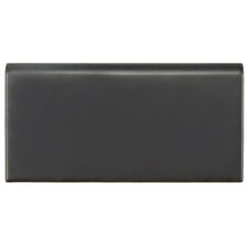 "Hexitile 8"" x 4"" Bullnose Tile Trim in Matte Black"