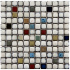 "Essentia 7/8"" x 7/8"" Glazed Ceramic Square Mosaic in Cascade"