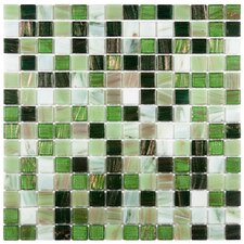 """Fused Glass 3/4"""" x 3/4"""" Polished Glass Mosaic in Forest Green"""