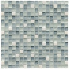 "Sierra 5/8"" x 5/8"" Polished Glass and Stone Mini Mosaic in Alaskan View"