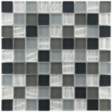 "Neptunian 11-3/4"" x 11-3/4"" Polished Glass Mosaic in Troctus"