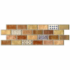 "Tesselar Valise 2 3-3/4"" x 11-1/4"" Glazed Ceramic Subway Mosaic in Earth Tones"