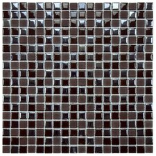 "Posh 5/8"" x 5/8"" Pixie Porcelain Mosaic Wall Tile in Brown"