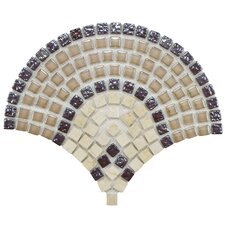 "Sierra 11-1/4"" x 9-1/2"" Polished Glass, Stone and Metal Mosaic in Arch Spice"