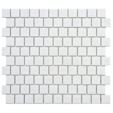"<strong>EliteTile</strong> Retro 11"" x 12"" Glazed Porcelain Mosaic in Glossy White"