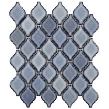"Arabesque 2-3/4"" x 1-7/8"" Porcelain Mosaic Tile in Orion"