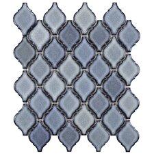 Arabesque Porcelain Mosaic Tile in Orion (Set of 10)