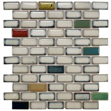 "Essentia 12-1/2"" x 12-3/4"" Porcelain Glazed Mosaic in Cascade"