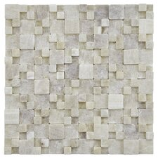 "Grizelda 12"" x 12"" Natural Stone Mosaic in Yellow Jade"