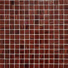 "<strong>EliteTile</strong> Fused Glass 12"" x 12"" Polished Glass Mosaic in Burgundy"