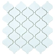 "<strong>EliteTile</strong> Beacon 12-1/2"" x 12-1/2"" Glazed Porcelain Mosaic in Matte White"