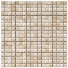 "Arcadia 12"" x 12"" Glazed Porcelain Mosaic in Perla Bone"