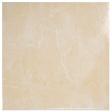 "Mesa 12"" x 12"" Ceramic Floor and Wall Tile in Beige"