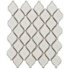 "Arabesque 2-3/4"" x 1-7/8"" Porcelain Mosaic Tile in Selene"