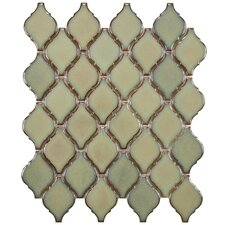 "Arabesque 9.88"" x 11.13"" Porcelain Mosaic Tile in Thalia"